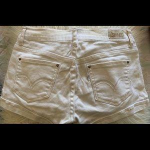 levi's shortie shorts low rise